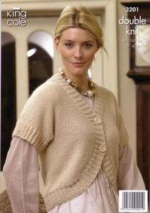3201 Knitting Pattern - Ladie's Double Knit*
