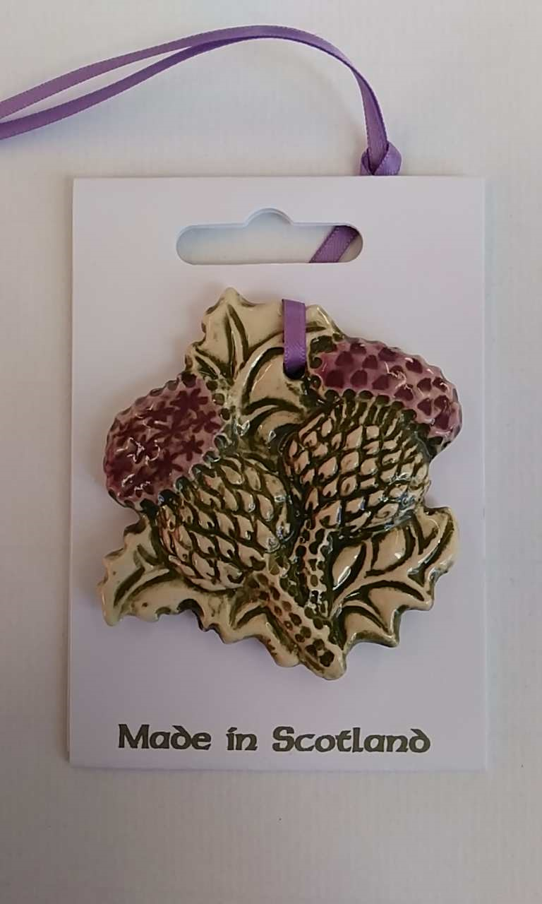 Thistle Double Ceramic Decoration