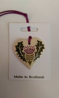 Thistle Heart Ceramic Decoration