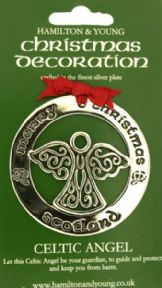 Celtic Angel Silver Decoration