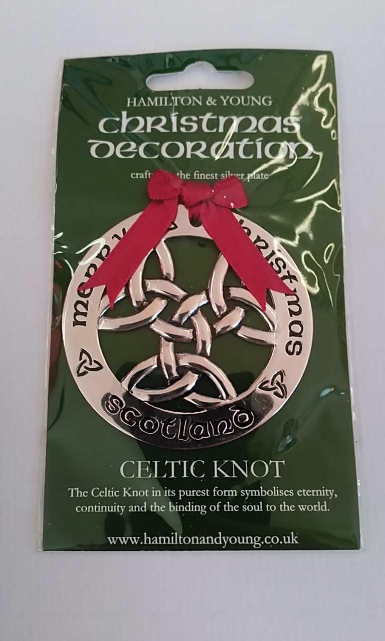 Celtic Knot Silver Decoration