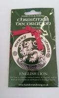 English Lion Silver Decoration