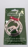 Loch Ness Monster Silver Decoration