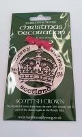 Scottish Crown Silver Decoration