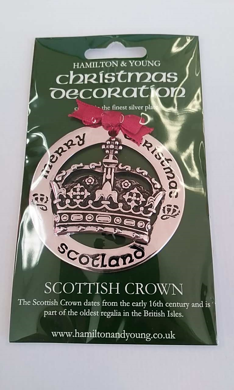 Scottish Crown Silver Decoration