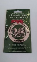 Welsh Dragon Silver Decoration