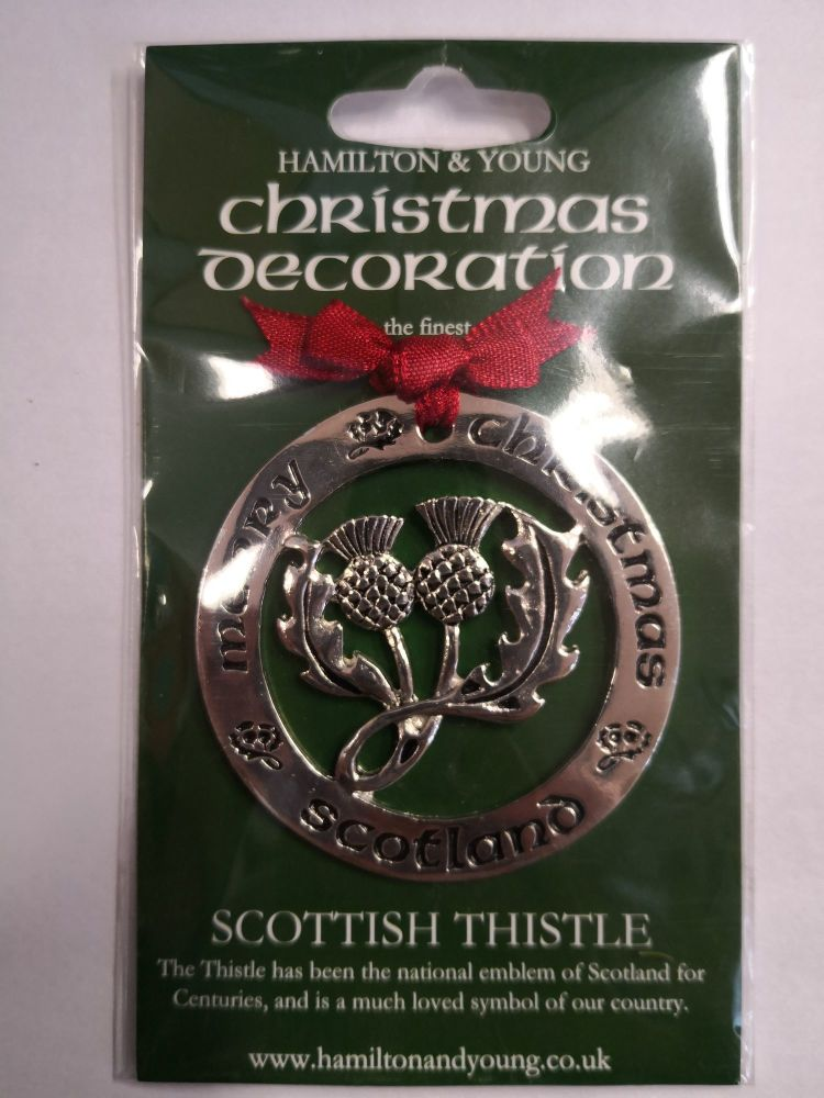 Scottish Thistle Silver Decoration
