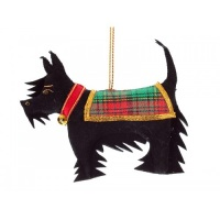 Black Scottie Dog Handmade Christmas Ornament