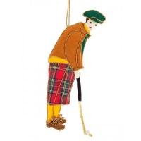 Golfer Christmas Ornament