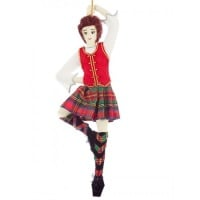 Highland Dancer Christmas Ornament