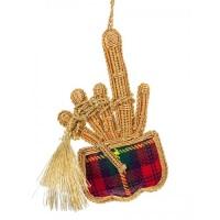 Tartan Bagpipes Christmas Decoration