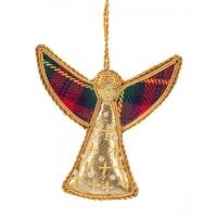 Tartan Angel Christmas Tree Decoration