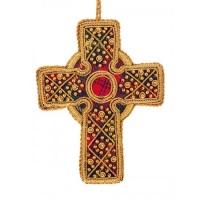 Tartan Celtic Cross Christmas Decoration