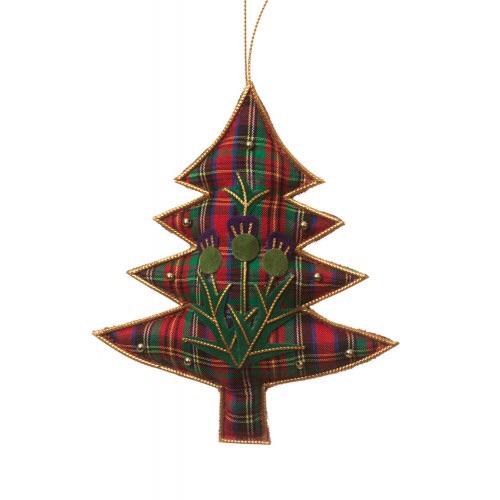 Tartan and Thistle Tree Decoration