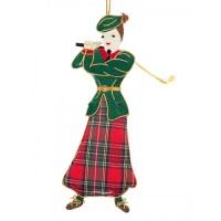 Lady Golfer Scottish Christmas Decoration
