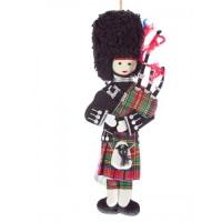 Highland Piper Scottish Christmas Ornament