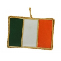 Irish Flag with Ireland Christmas Decoration