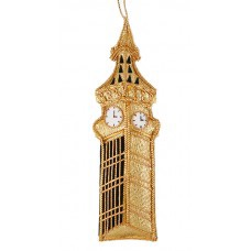 Gold Big Ben London Christmas Tree Decoration