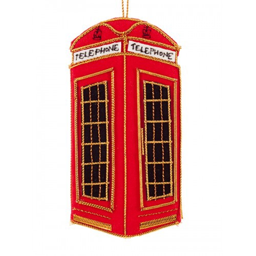 Telephone Box Christmas Ornament