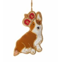 Crown Corgi Christmas Tree Decoration