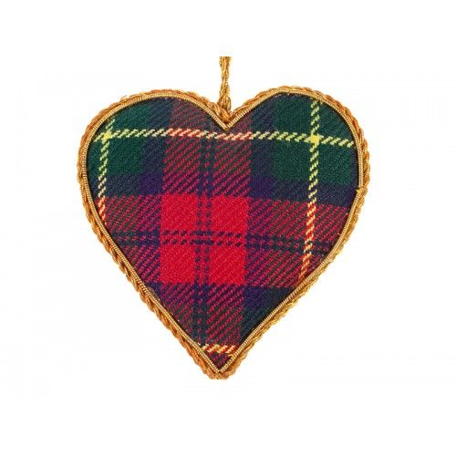 Tartan Heart Christmas Ornament