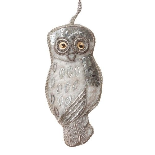 Snow Owl Christmas Decoration