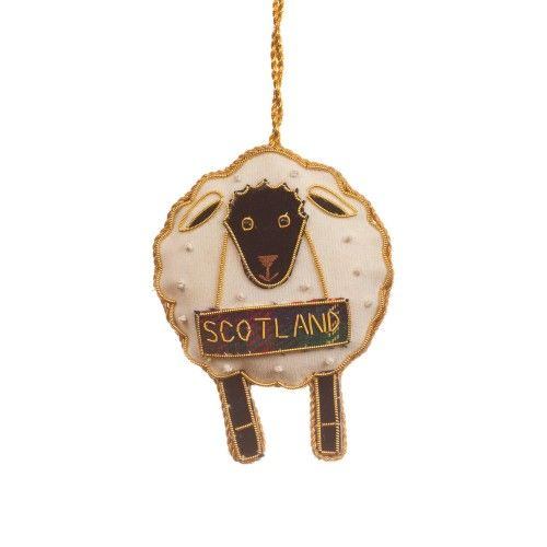 Scottish Sheep Christmas Decoration