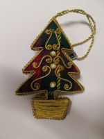 Large Tartan Tree in Pot Christmas Decoration