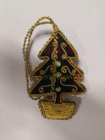 Small Tartan Tree in Pot Christmas Decoration