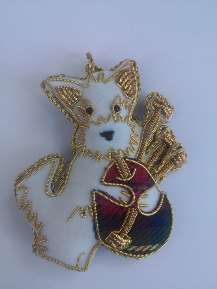 Westie Piper Christmas Decorations