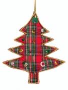 Embroidered Tartan Tree