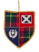 Tartan Sheild with Saltire and Thisle