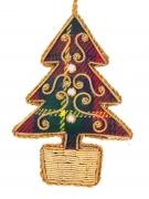 Small Tartan Tree with Gold Pot