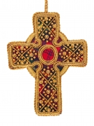 Tartan and Gold Celtic Cross