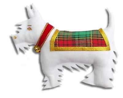 Scottie Dog White
