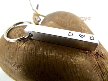 Personlised Bar Key Ring