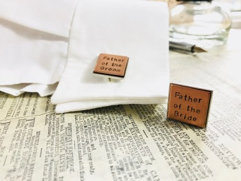 Personalised  Copper Cufflinks