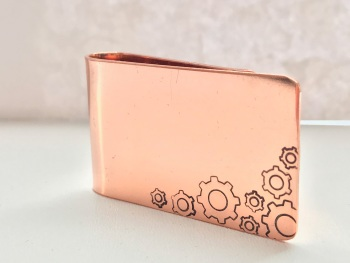 Copper Cogs Money Clip