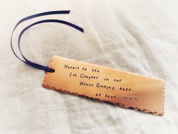 Copper Book Mark 7th Wedding Anniversary Gift