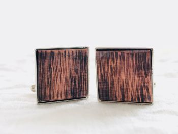Copper Inlay  Cuff Links