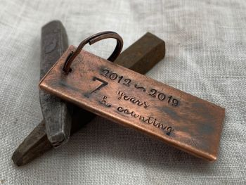 Personalised Copper Key Ring