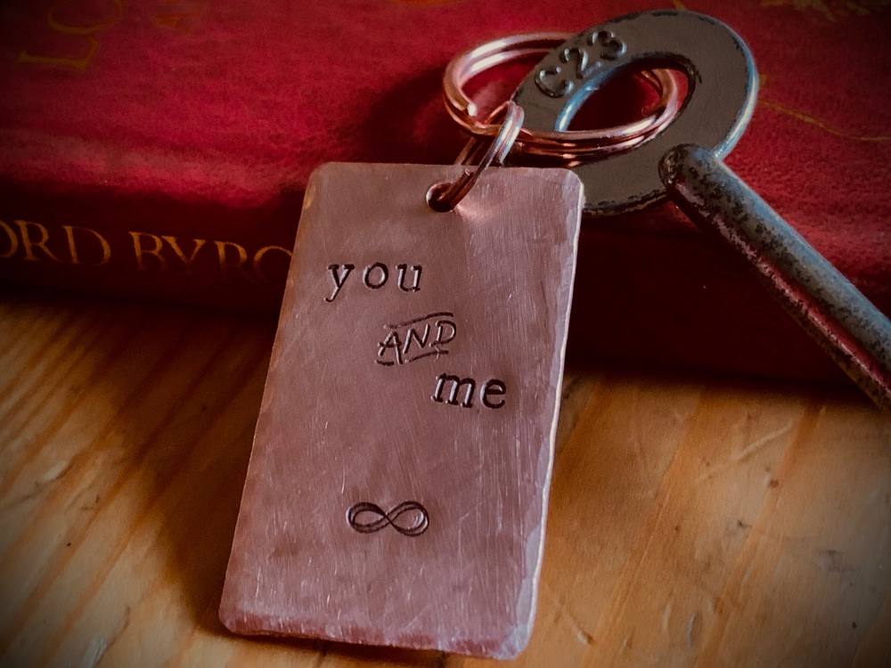 Copper Key Ring You and Me