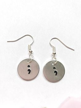 Semicolon Earrings