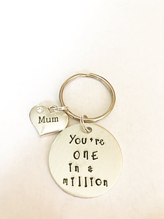 Mum, You're One In A Million Keyring