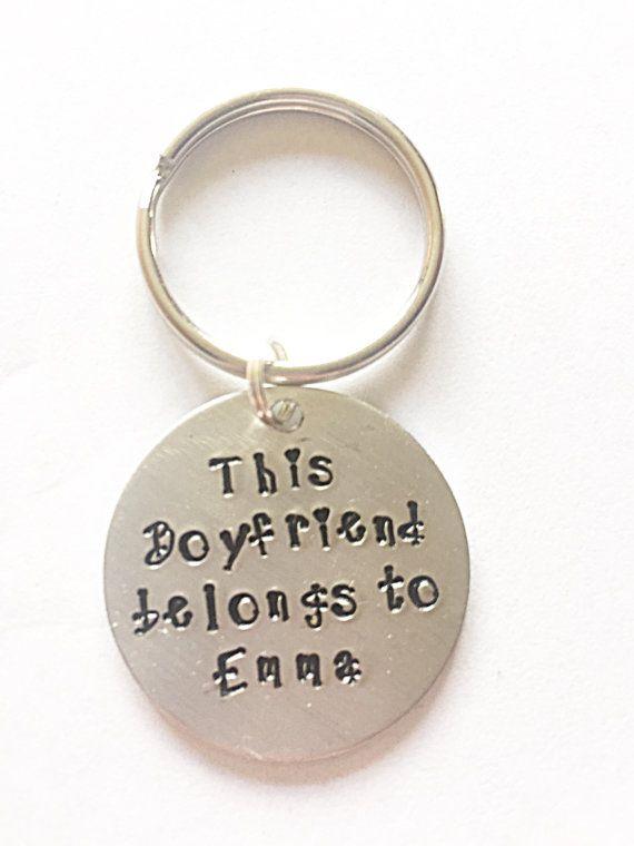 Hand Stamped Boyfriend Keyring