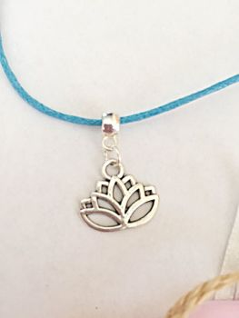 Lotus Flower Cord Necklace