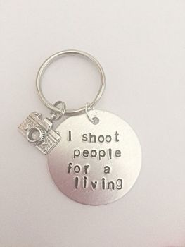 I Shoot People For A Living Keyring