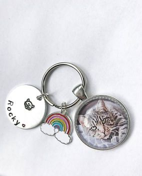 Cat Memorial Keyring