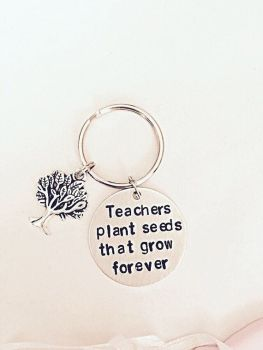 Teacher Plant Seeds That Grow Forever Keyring
