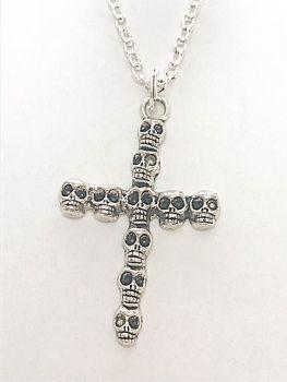 Skull Cross Necklace